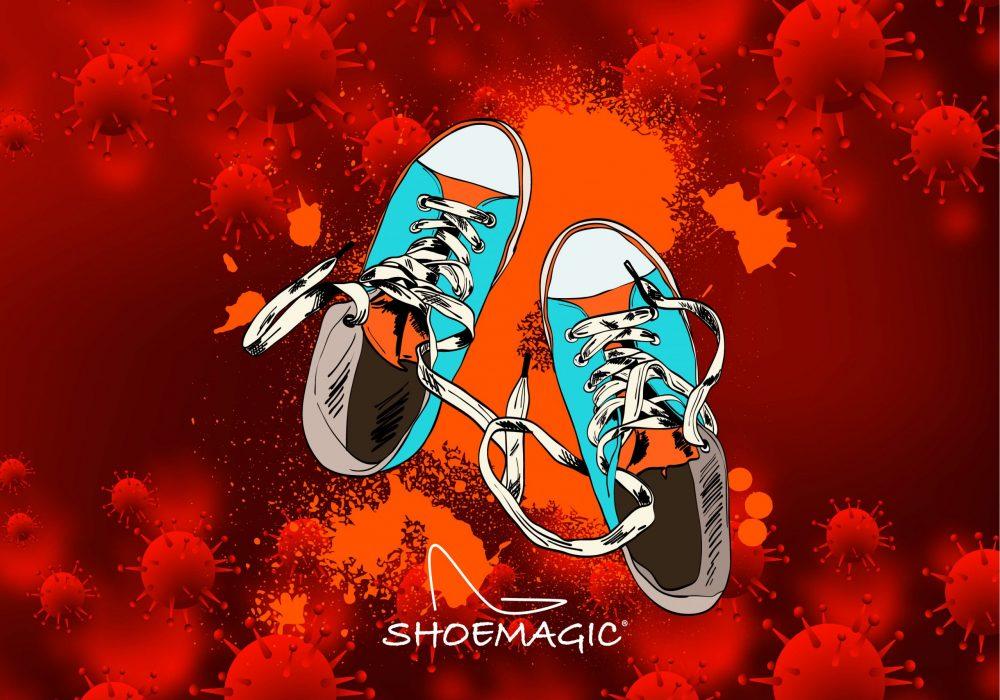 Il Corona virus può sopravvivere sulle scarpe fino a 5 giorni.